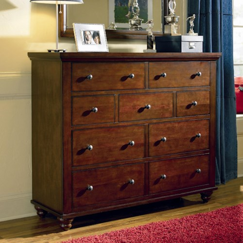 Aspenhome cambridge chesser with 9 drawers walker 39 s for Furniture wenatchee