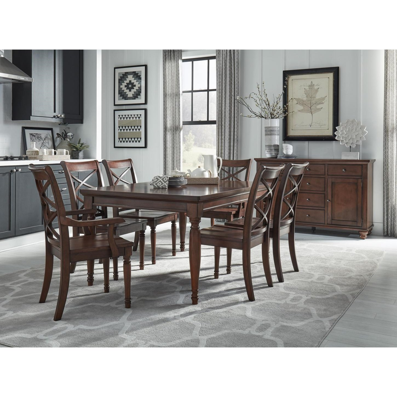 Rectangular Leg Dining Table & Chair Set