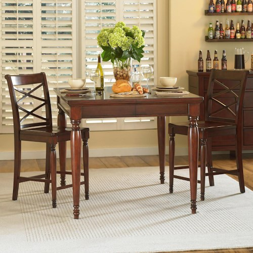 Aspenhome cambridge 3 piece counter height table chair for 3 pc dining room set