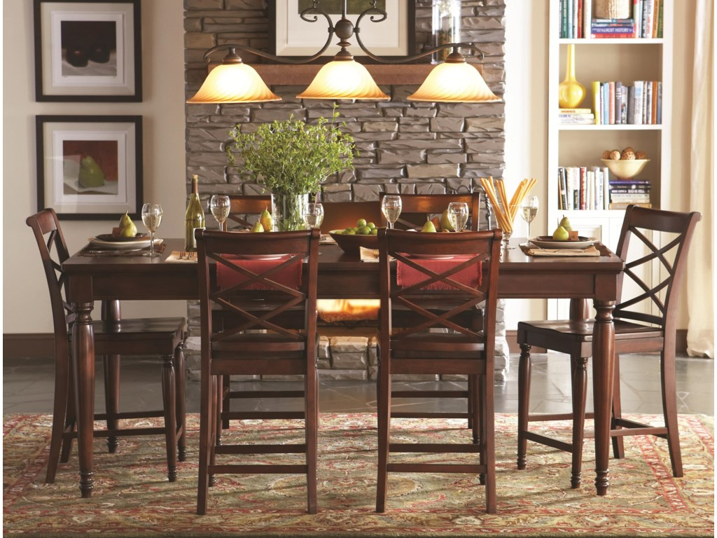 Aspenhome alistor 7 piece pub table and chair set story lee aspenhome alistor 7 piece pub table and chair set watchthetrailerfo