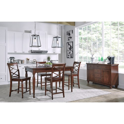 Aspenhome Cambridge 5 Pc. Counter Height Table & Chair Set