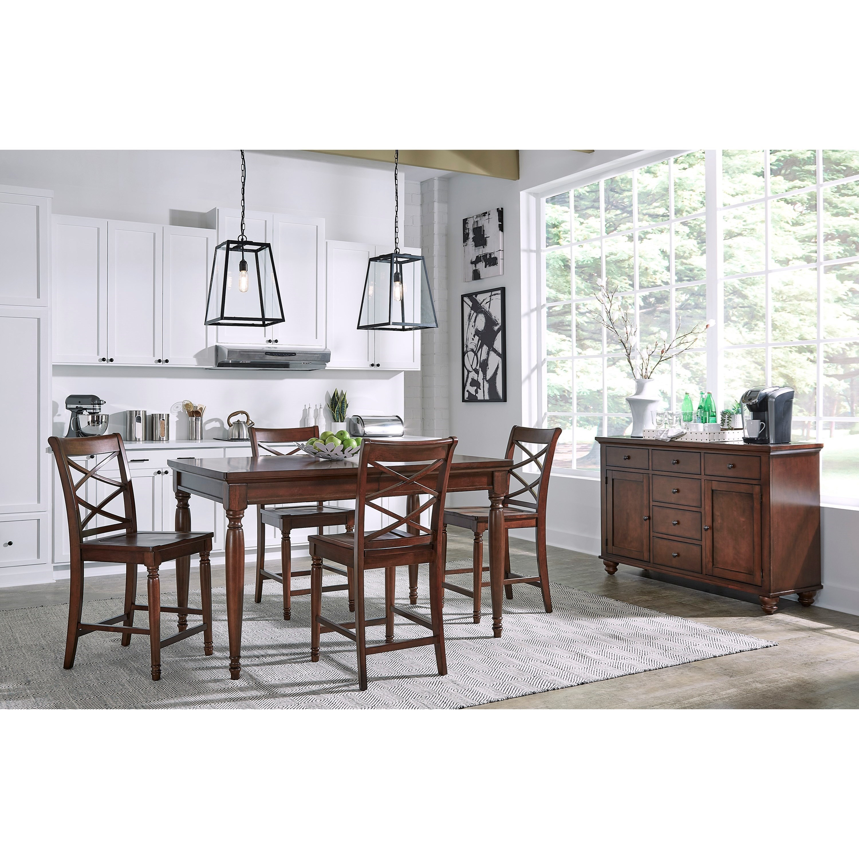 Merveilleux Aspenhome Cambridge5 Pc. Pub Table Set ...