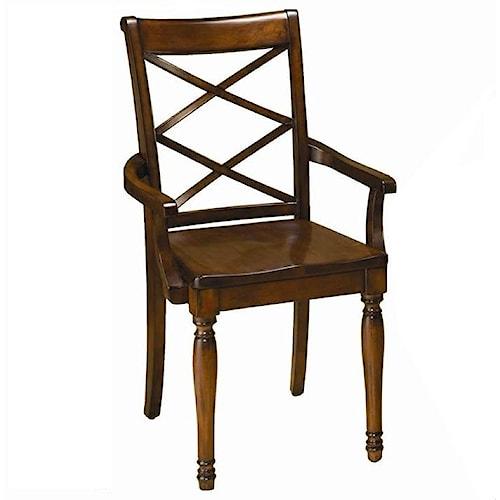 Aspenhome Cambridge Double X Arm Chair