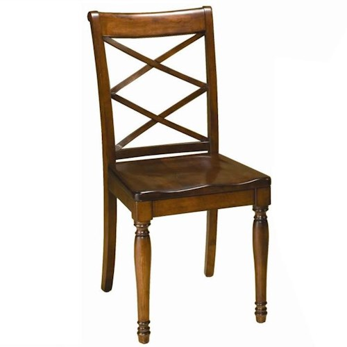 Aspenhome Cambridge Double X Side Chair