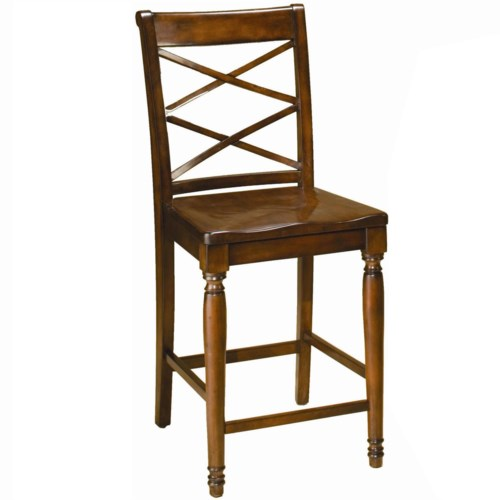 Aspenhome Cambridge Double X Counter Height Chair Turk