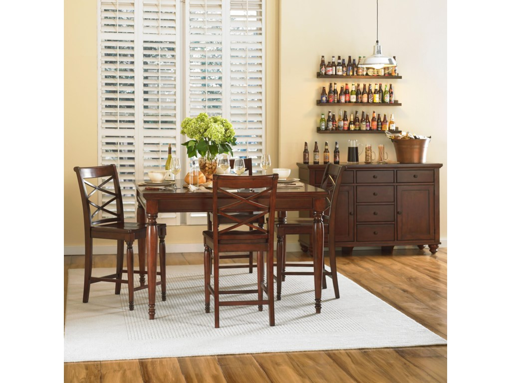 Shown with Counter Height Table & 4 Counter Height Chairs