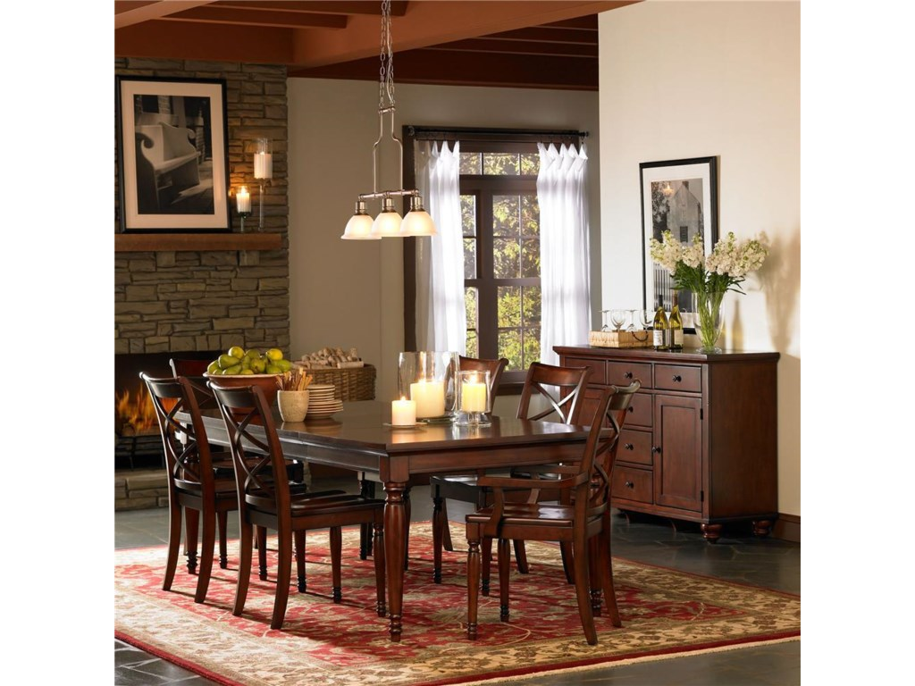 Shown with Dining Let Table and X Back Chairs