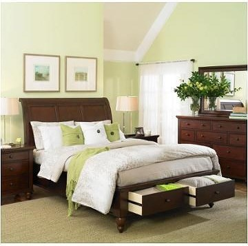 Aspenhome Cambridge King Sleigh Bed with Storage Footboard ...