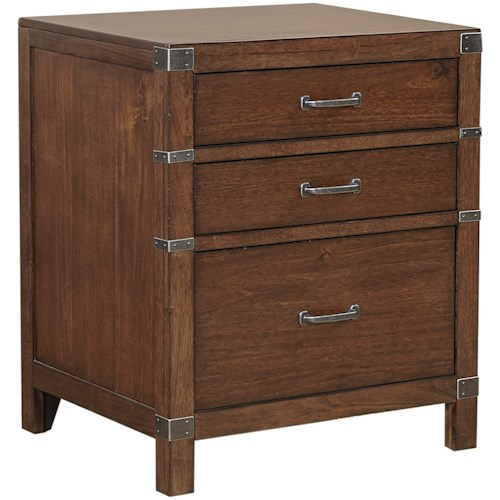 Aspenhome Canfield Single File Cabinet with 3 Drawers