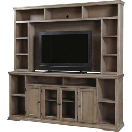 "84"" Entertainment Console and Hutch"