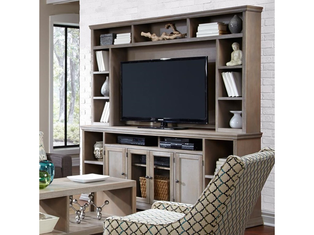 Aspenhome Canyon Creek 84-Inch Entertainment Console and Hutch - Belfort  Furniture - Wall Unit - Aspenhome Canyon Creek 84-Inch Entertainment Console And Hutch