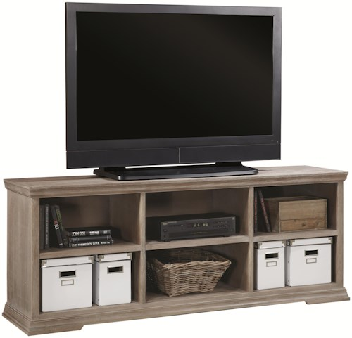 Aspenhome Canyon Creek 72-Inch TV Console with Open Compartment Storage