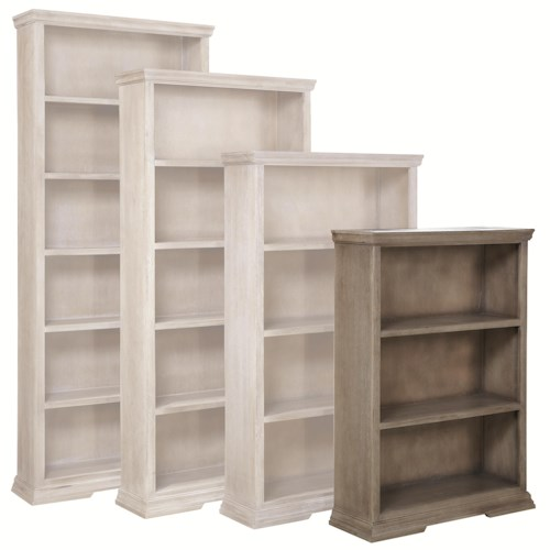 Aspenhome Canyon Creek 48-Inch Bookcase with 2 Fixed Shelves