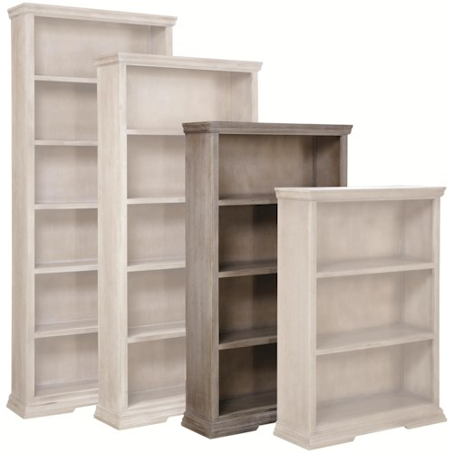Aspenhome Canyon Creek 60-Inch Bookcase with 3 Fixed Shelves