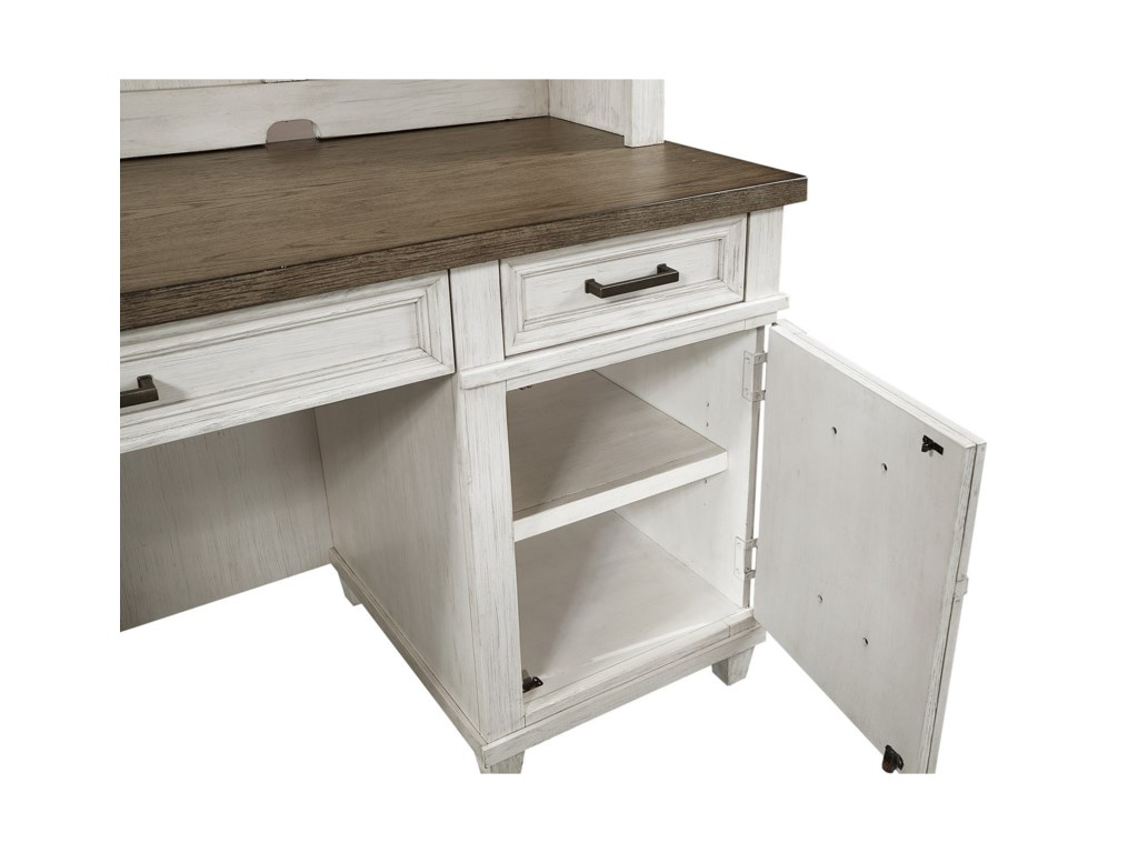 Aspenhome CarawayCredenza Desk and Hutch