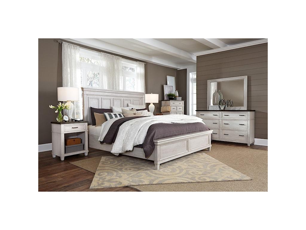 Aspenhome CarawayKing Panel Bed