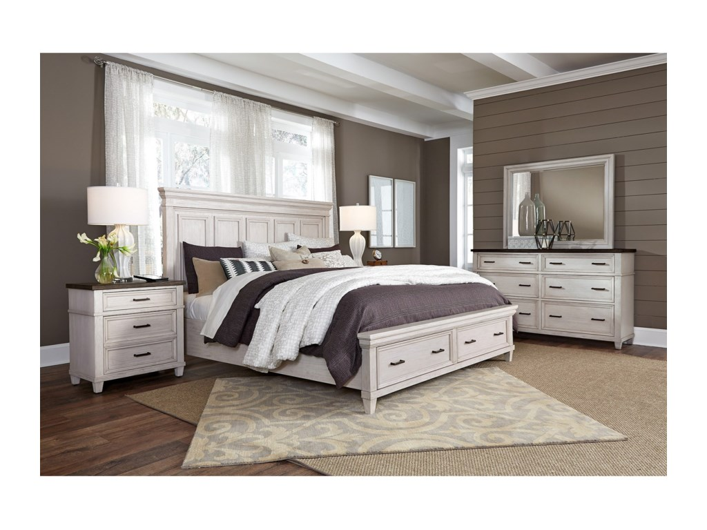 Aspenhome CarawayKing Panel Storage Bed