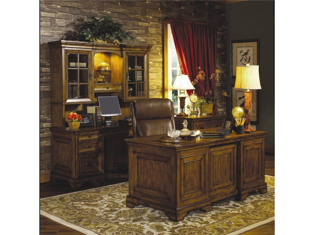 Shown with Kneehole Credenza and Hutch