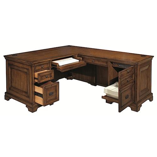 Aspenhome Centennial Computer Desk and Return