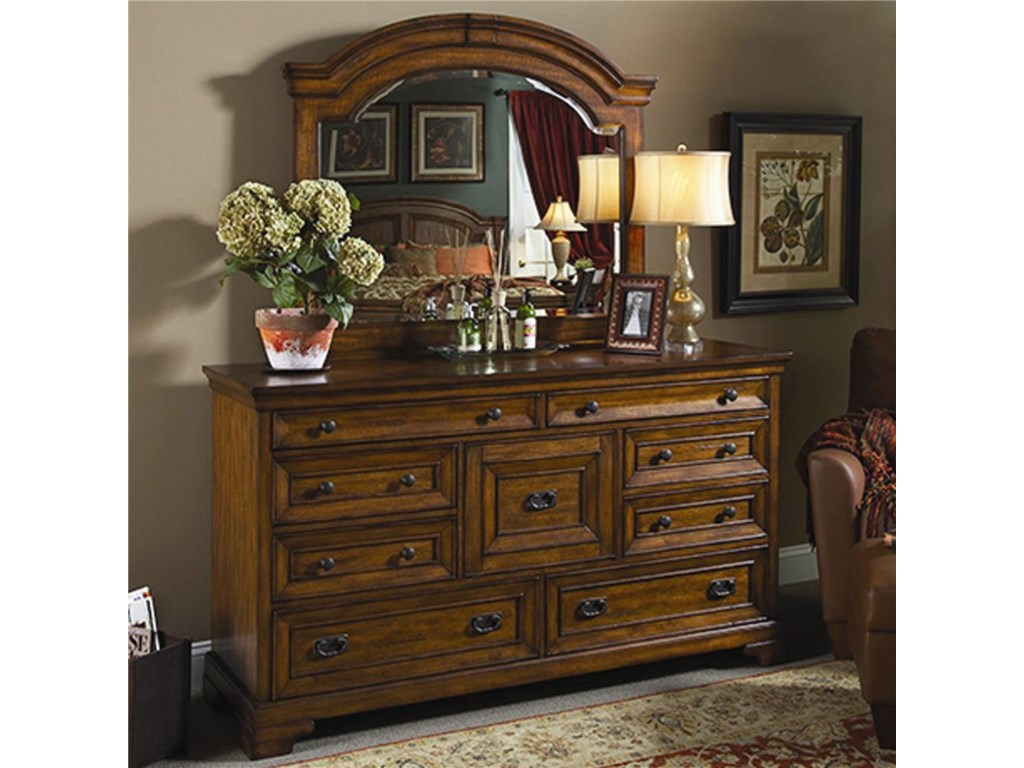 Aspenhome CentennialMaster Dresser and Mirror Combination