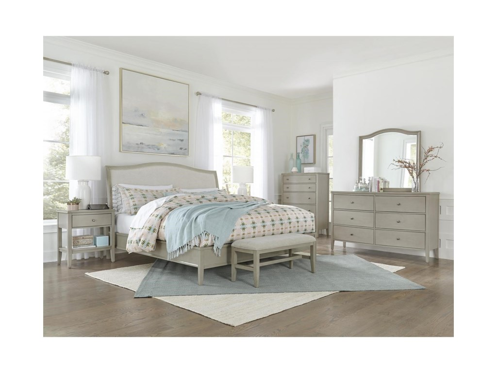 Aspenhome Charlotte 6 Drawer Dresser with Mirror