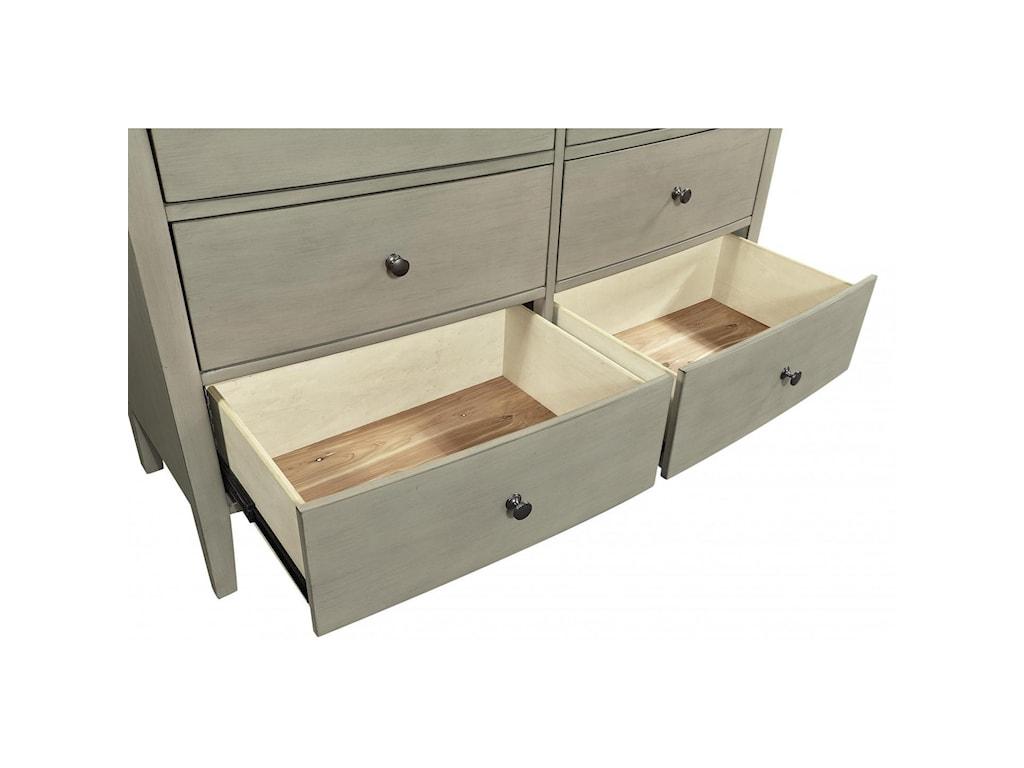 Aspenhome Charlotte 6 Drawer Dresser with Mirror