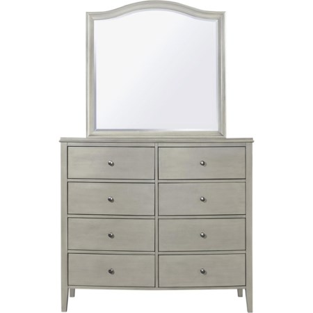 8 Drawer Chesser with Mirror