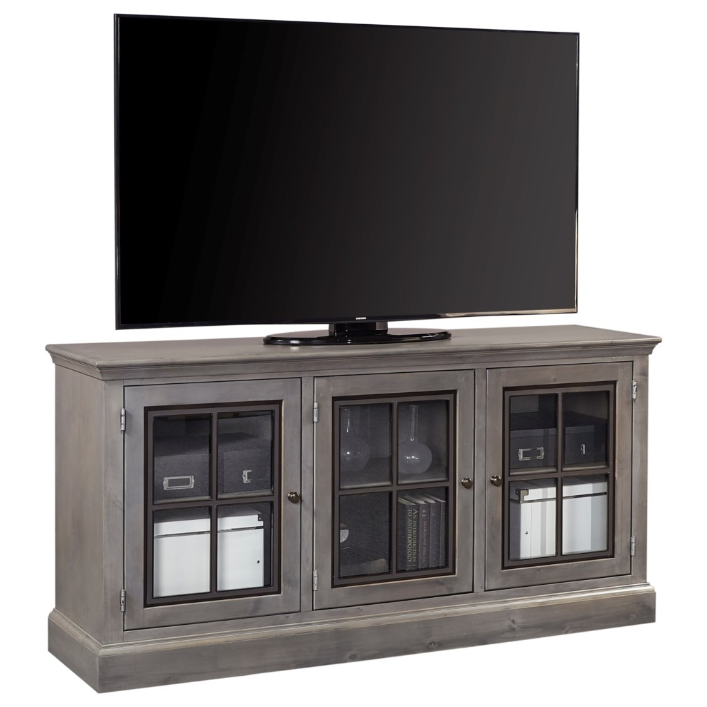 Aspenhome Churchill Casual 66 Console With 3 Doors Wayside