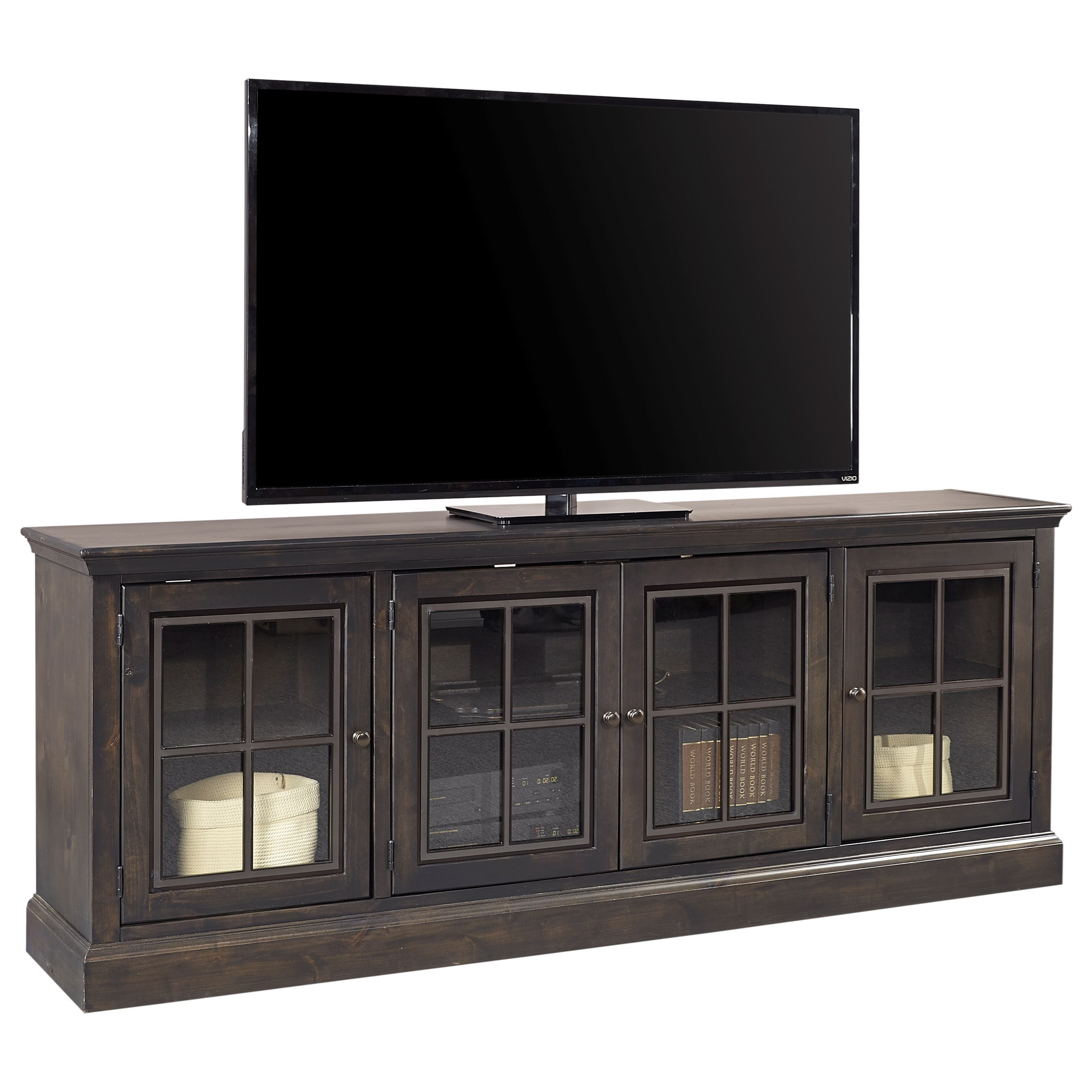 """Casual 84"""" TV Console with 4 Doors"""