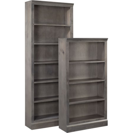 "60"" Bookcase w/ 3 fixed shelves"