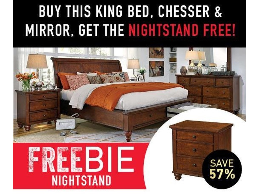 Aspenhome ClintonClinton Bedroom Package with Freebie!