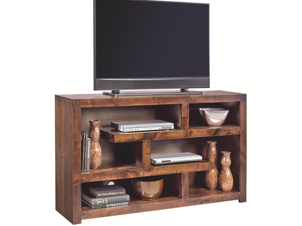 Hills of Aspen Contemporary Alder60 Inch Open Console
