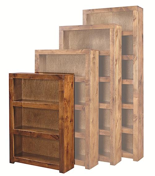 Aspenhome Contemporary Alder 48 Inch Bookcase with 2 Shelves