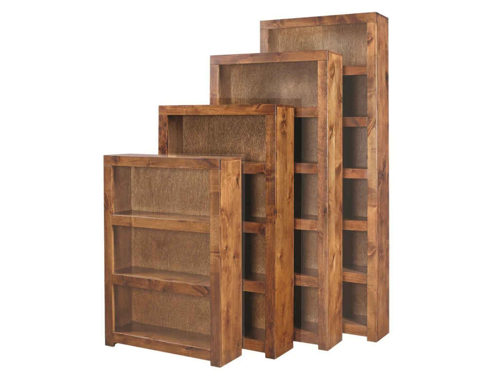 Aspen Contemporary Alder60 Inch Bookcase