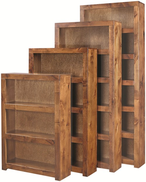 Aspenhome Contemporary Alder 60 Inch Bookcase with 3 Shelves