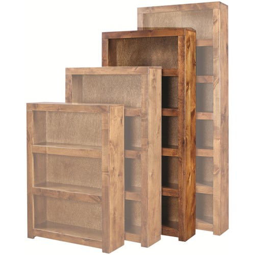 Aspenhome Contemporary Alder 72 Inch Bookcase with 4 Shelves