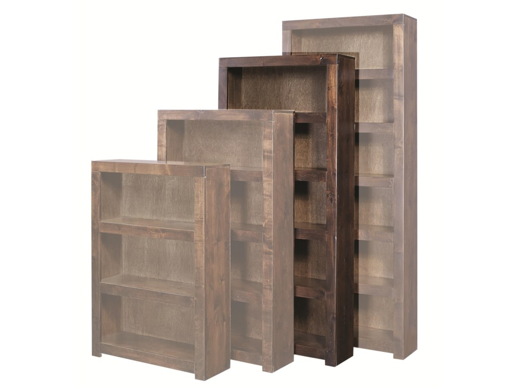Highland Court Contemporary Alder72 Inch Bookcase