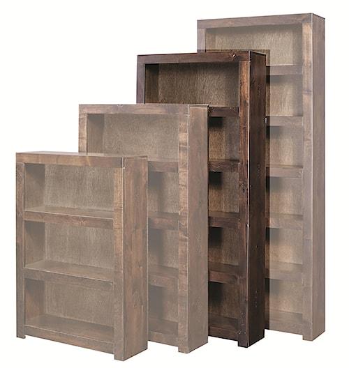 Aspenhome Contemporary Alder 72 Inch Bookcase with 4 Shelves