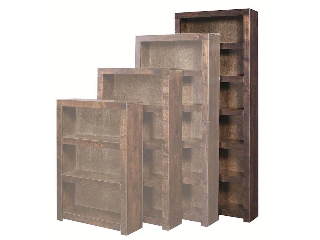 Aspenhome Contemporary Alder84 Inch Bookcase