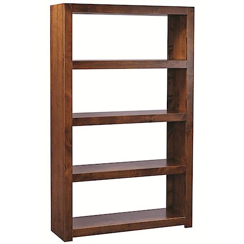 Aspenhome Contemporary Alder Room Divider with 4 Shelves
