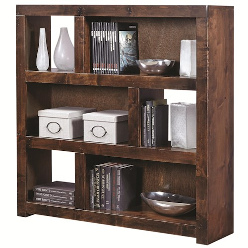 Aspenhome Contemporary Alder 49 Inch Cube wth 2 Shelves