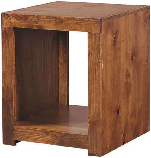 Aspenhome Contemporary Alder End Table with Open Compartment