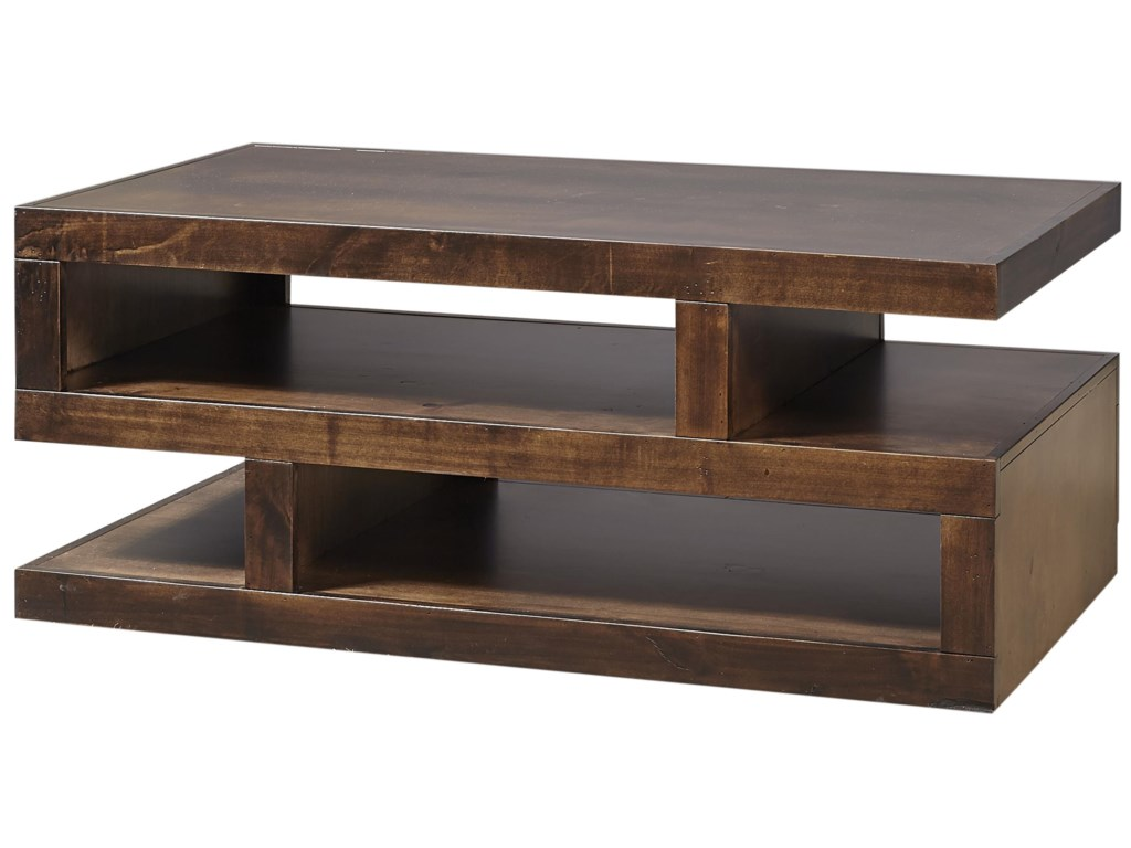 Aspenhome Contemporary AlderS Cocktail Table