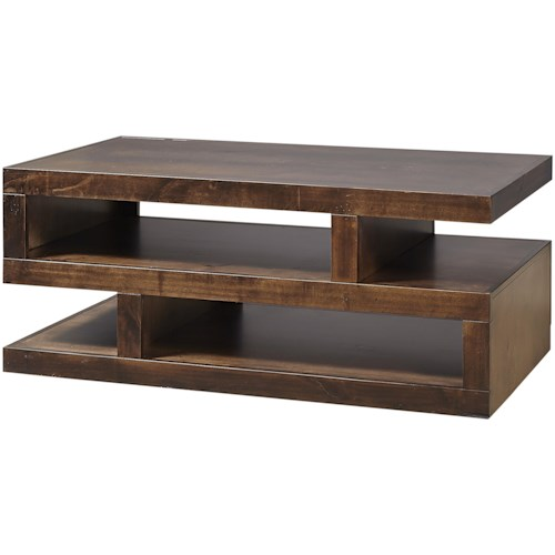 Aspenhome Contemporary Alder Contemporary Cocktail Table with Storage