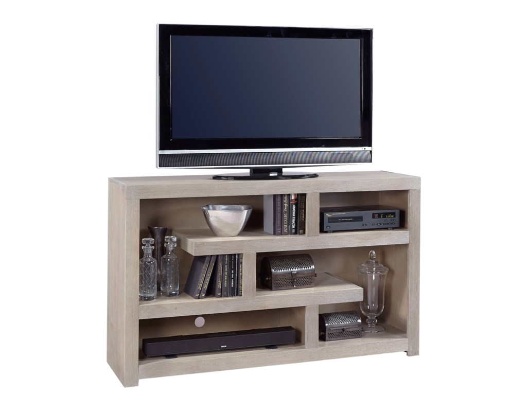 Hills of Aspen Contemporary Driftwood60 Inch Open Console