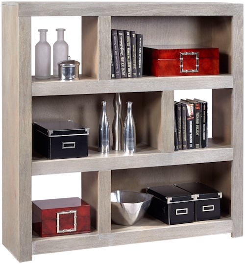 Aspenhome Contemporary Driftwood 49 Inch Cube wth 2 Shelves