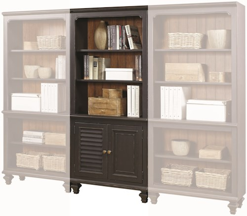 Aspenhome Ravenwood Bookcase with 2 Reversible Panel Doors and 3 Adjustable Shelves