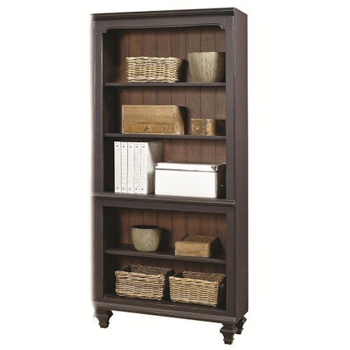 Aspenhome Ravenwood Open Bookcase with 3 Adjustable Shelves and 1 Stationary