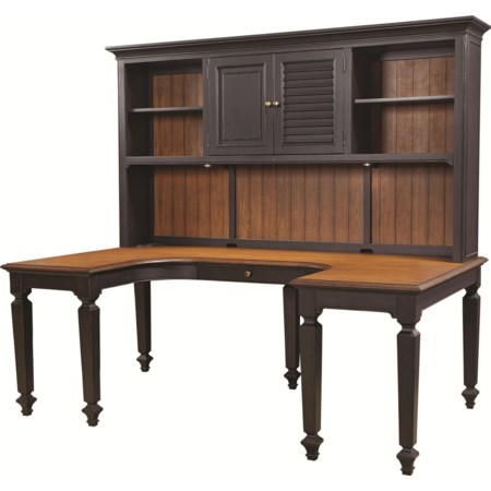 Desk and Hutch