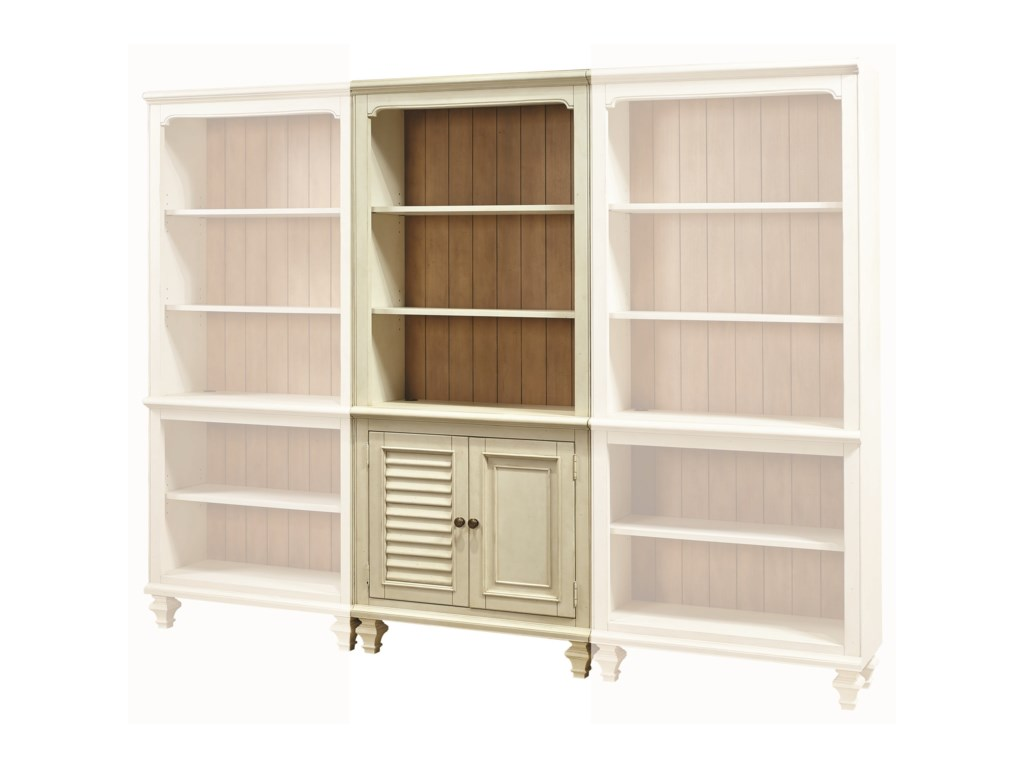 with doors modular bookcases open logan m bookcase pottery barn hutch products